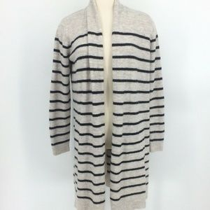 Old Navy Cardigan Sweater M Stripe Waterfall open